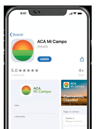 Descargá la app de Aca Mi Campo